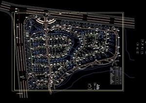 某现代风格别墅总规划cad方案图