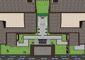 新中式别墅庭院景观设计