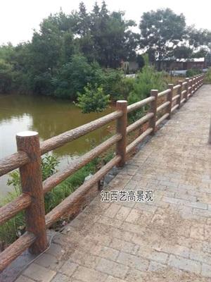 """江西""""九江水泥仿木栏杆""""安装做法""""九江仿木水泥护栏厂家"""""""