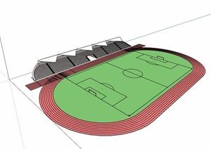 现代风格体育运动场设计SU(草图大师)模型