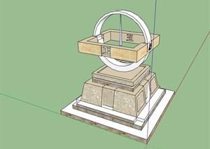 园林景观详细完整的雕塑小品设计SU(草图大师)模型
