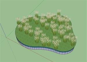 马尾草素材设计SU(草图大师)模型