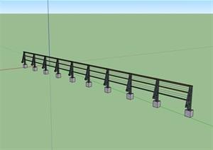 围栏栏杆素材设计SU(草图大师)模型