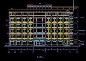 现代风格6层办公楼建筑设计施工图