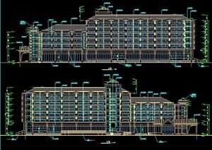 现代中式6层度假中心建筑设计全套图