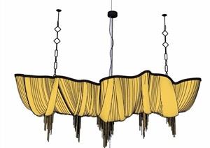簡約吊燈素材設計SU(草圖大師)模型