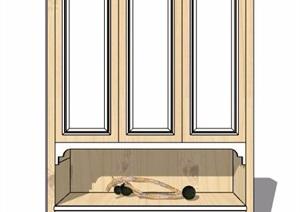 现代风格储物柜衣柜设计SU(草图大师)模型