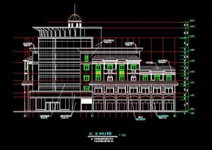 欧式风格6层会所建筑设计施工图