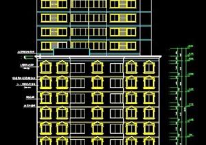 欧式风格高层酒店建筑设计施工图纸