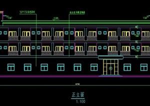 某三层办公宿舍楼建筑设计方案图
