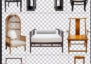 九款中式风格PSD分层家具素材