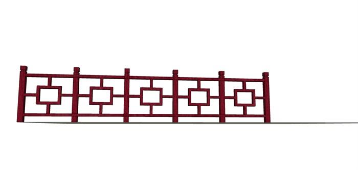 栏杆013外观方案设计su模型[草图大师模型,原创][原创]