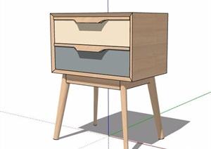 簡約北歐風床頭柜設計SU(草圖大師)模型