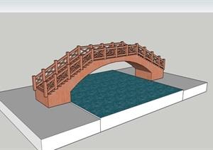 木橋11外觀方案設計SU模型[草圖大師模型,原創]
