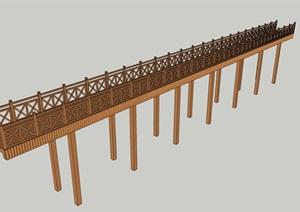 木橋18外觀方案設計su模型[草圖大師SU模型,原創]