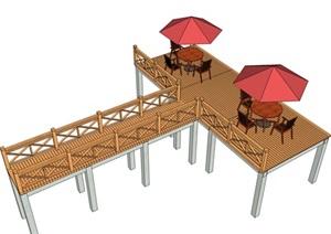 木橋20外觀方案設計su模型[草圖大師SU模型,原創]