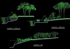 生态驳岸设计cad施工图