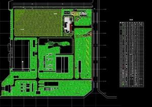 某园区办公环境绿化设计cad方案图