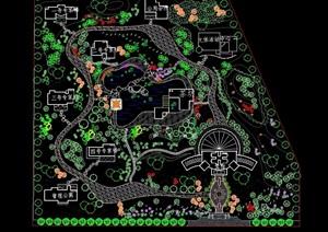 某办公景观园林规划cad平面图