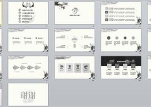 PPT模板(毕业答辩、中国风)