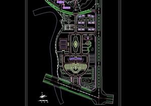 某现代详细行政中心修建性规划设计cad方案图
