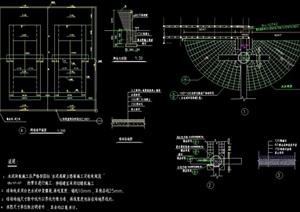 现代风格详细的网球场设计cad施工图