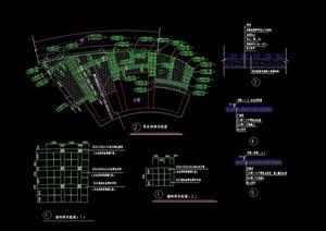 现代停车场地设计cad施工图