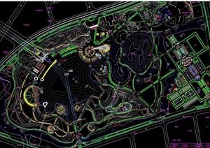 某中央公園規劃cad總平面圖