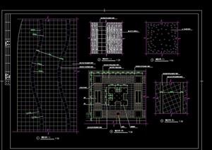 地面详细的铺装设计cad施工图