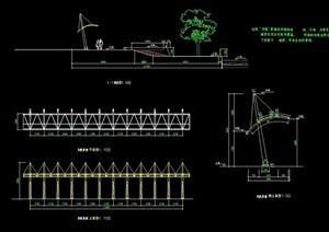 景观廊设计cad施工图