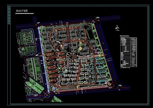 某居住區修建性詳細規劃cad總平面圖
