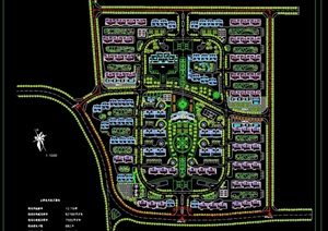 某完整的住宅規劃設計cad方案圖