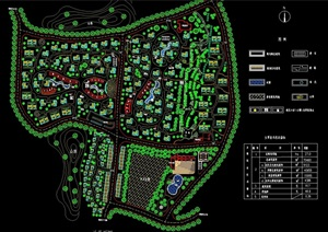 某舊村改造住宅規劃設計cad方案圖