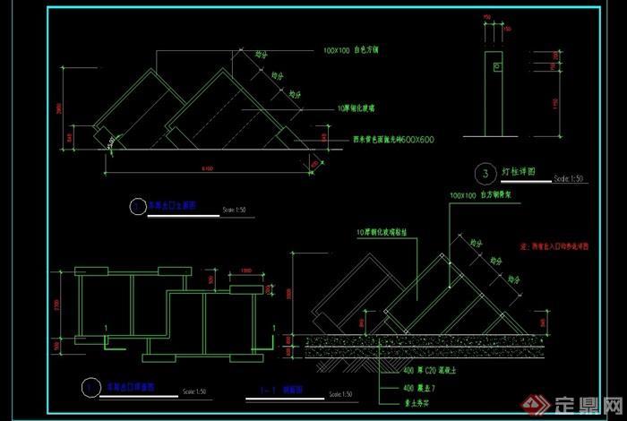 某车库出入口设计cad施工图