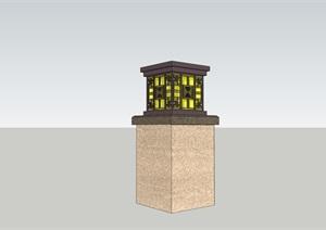 新中式景观灯-景观灯座