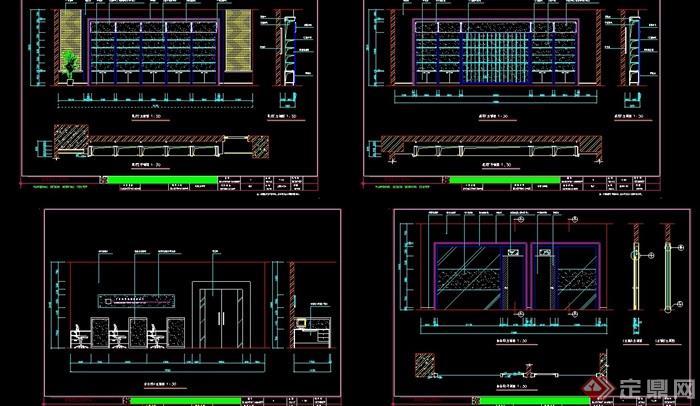 某展厅详细室内设计cad施工图