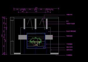 室内壁?#19994;?#35270;背景墙设计cad施工图