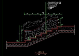 驳岸设计cad方案图