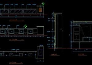 酒店大堂服务总台设计详图