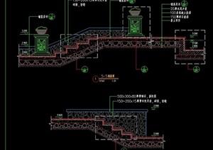 园林景观台阶设计cad剖面图
