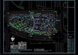 整体详细的居住区规划cad方案