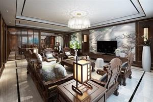 西安新房装修-金地湖城大境245平米新中式风格装修设计