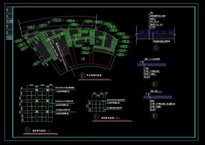 某詳細的路面鋪裝設計cad施工圖