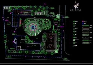 详细的消防办公绿化设计cad方案