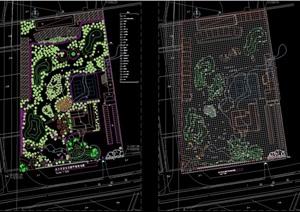 农业生态园平面规划cad图