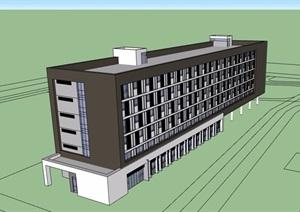 宿舍住宅樓設計SU(草圖大師)模型