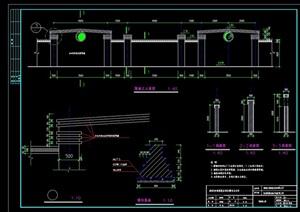 詳細完整的圍墻設計cad施工圖