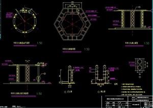 文化廊架設計cad施工圖