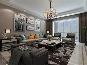 西安新房装修-海珀香庭240平米现代质感家居体验
