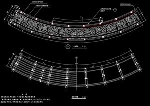 詳細的花架設計cad施工圖